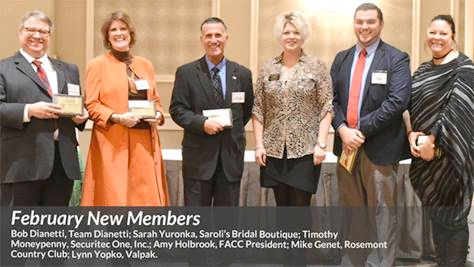 Securitec's Timothy Moneypenny is shown with new members of the Fairlawn Chamber of Commerce.